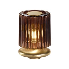 Vistosi Tread LT Table Lamp with Gold Base by Chiaramonte