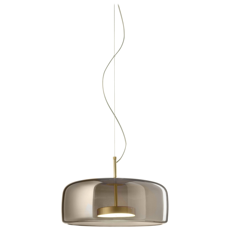 Vistosi Wide LED Jube Pendant Light in Smoke by Favaretto & Partners