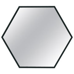 In Stock in Los Angeles, Visual Hexagonal Wall Mirror, Made in Italy