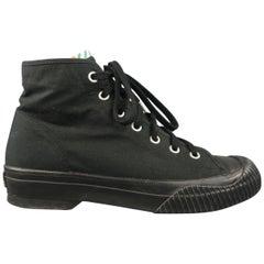 VISVIM Size 10 Black Canvas Rubber Sole Sneaker Boots