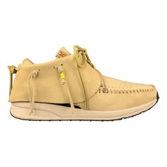 VISVIM Size 11 Light Yellow Leather FBT Red Deer Sneakers