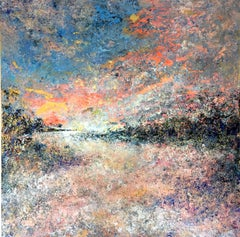 Sunset Lands abstract landscape paiting