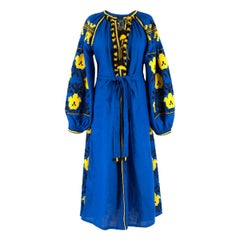 Vita Kin blauen Rhombus Kleid US 6