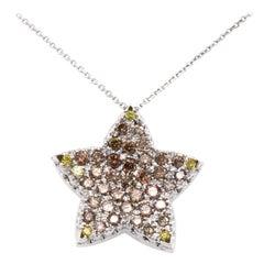 Vitale 1913 18 Karat White Gold 1.52 Carat Diamonds Pendant