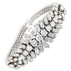18 Karat White Gold Diamond 13.64 Carat Bracelet