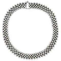 Vitale 1913 18 Karat White Gold Diamond Choker