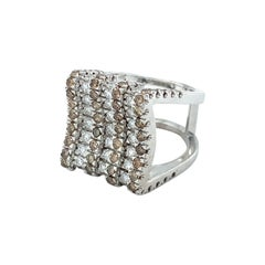 Vitale 1913 18 Karat White Gold Diamond Signet Ring