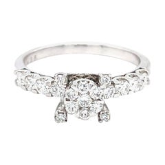 18 Karat White Gold Diamond Solitaire Ring