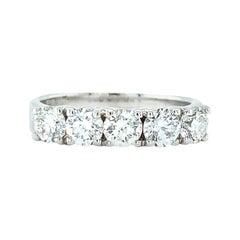 18 Karat White Gold Diamond Wedding Ring