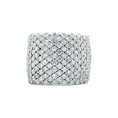 Vitale 1913 18 Karat White Gold Flexible Diamond Band Ring