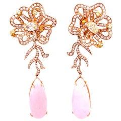 Vitale 1913 18 Karat White Gold Sapphire Diamond Earrings