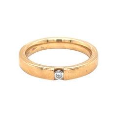 Vitale 1913 18 Karat Yellow Gold Diamond Band Ring