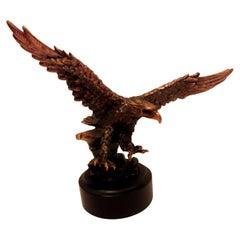 Vitange Eagle Sculpture Copper Plated