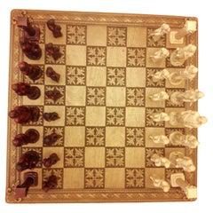 Vitange Hand Carved Chess Board