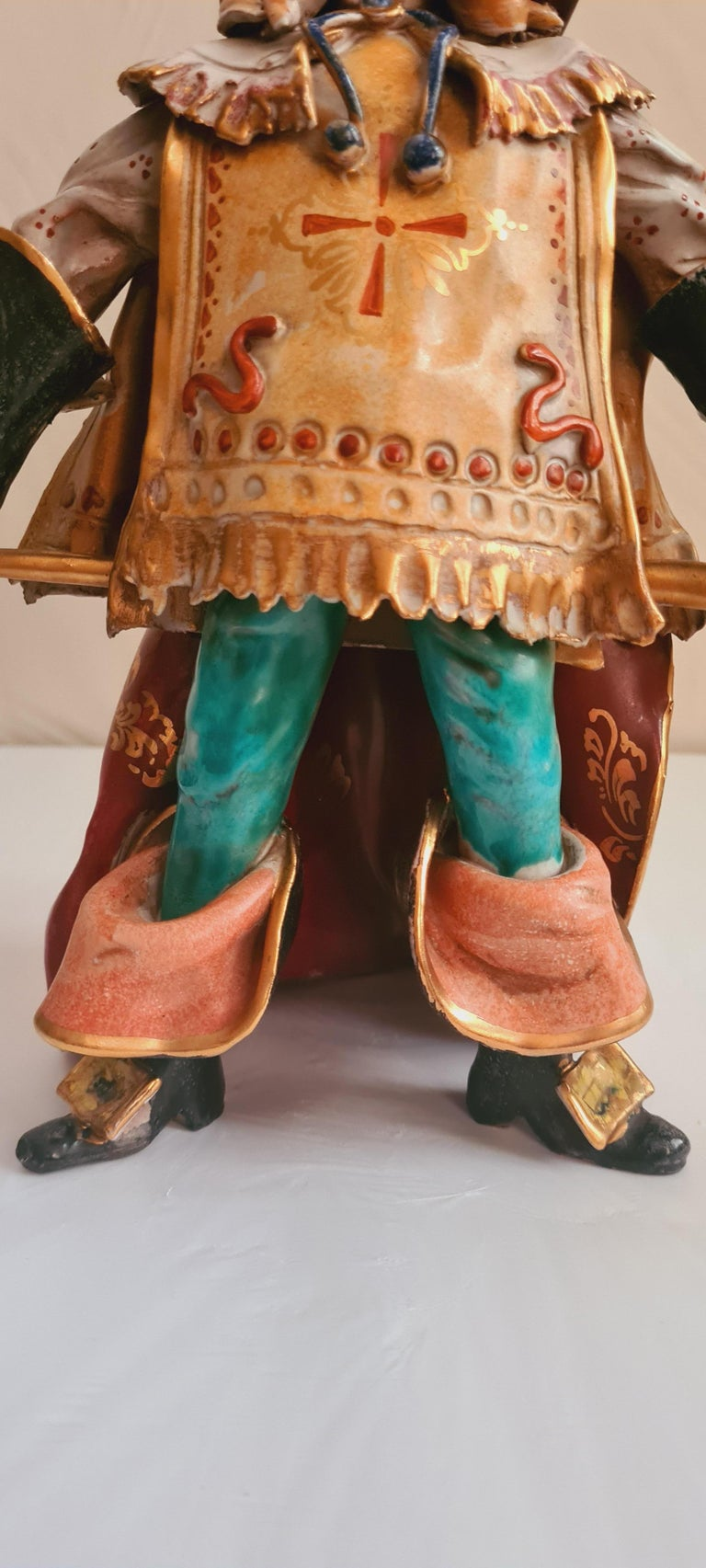 Greco Roman Vitange Italian Ceramic Sculptures Signed by Paolo Marioni For Sale