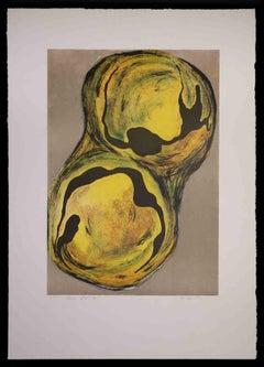 Cellula III - Original Lithograph by Vito Apuleo - 1970s