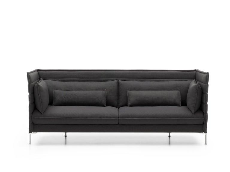 Vitra Alcove 3-Seater Sofa in Dark Gray Laser by Ronan & Erwan Bouroullec