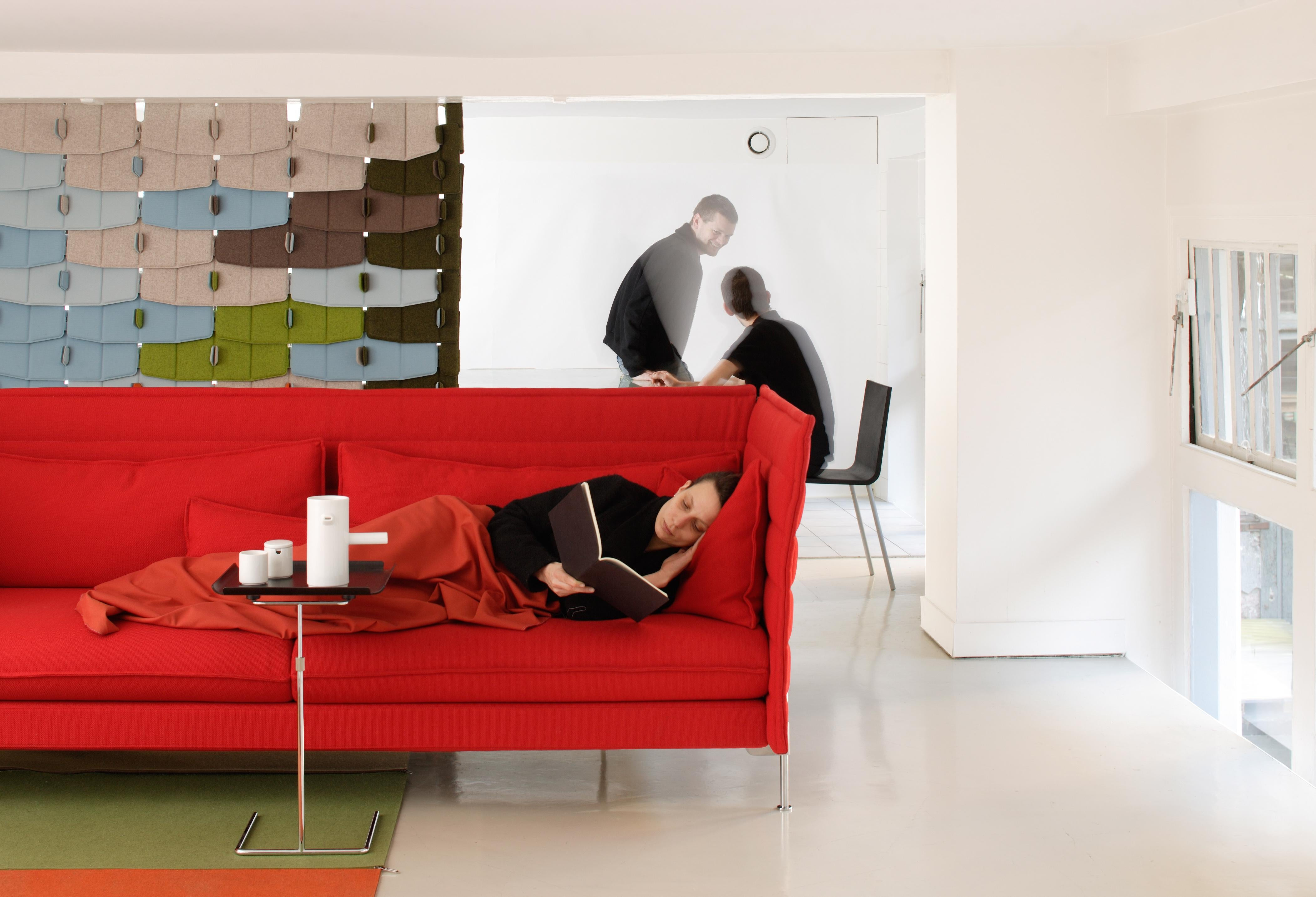 Vitra Alcove 3 Seater Sofa In Dark Gray