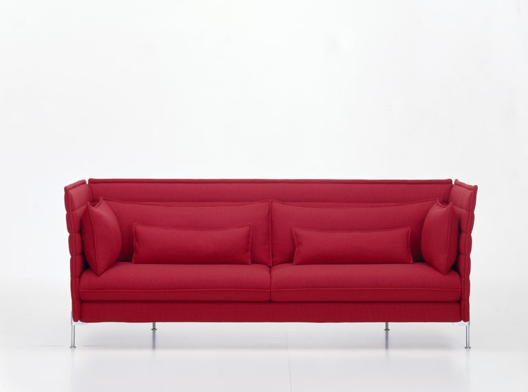 Vitra Alcove 3-Seater Sofa in Dark Red Laser by Ronan & Erwan Bouroullec 2