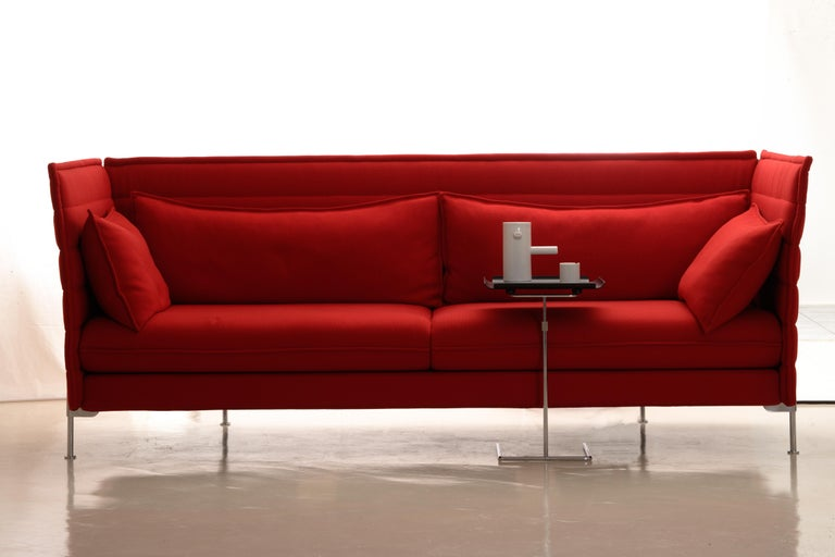 Vitra Alcove 3-Seater Sofa in Dark Red Laser by Ronan & Erwan Bouroullec 5