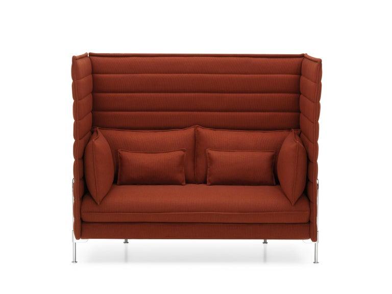 Vitra Alcove High Back 2 Seat Sofa In Brick By Ronan And Erwan