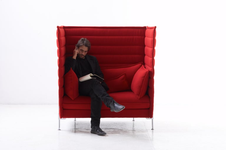 Modern Vitra Alcove Highback 2-Seater Sofa in Marron Volo by Ronan & Erwan Bouroullec For Sale