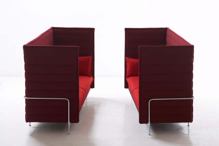 Swiss Vitra Alcove Highback 2-Seater Sofa in Marron Volo by Ronan & Erwan Bouroullec For Sale