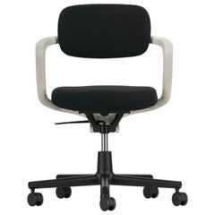 Vitra Allstar Chair in Nero Hopsak with White Armrest by Konstantin Grcic