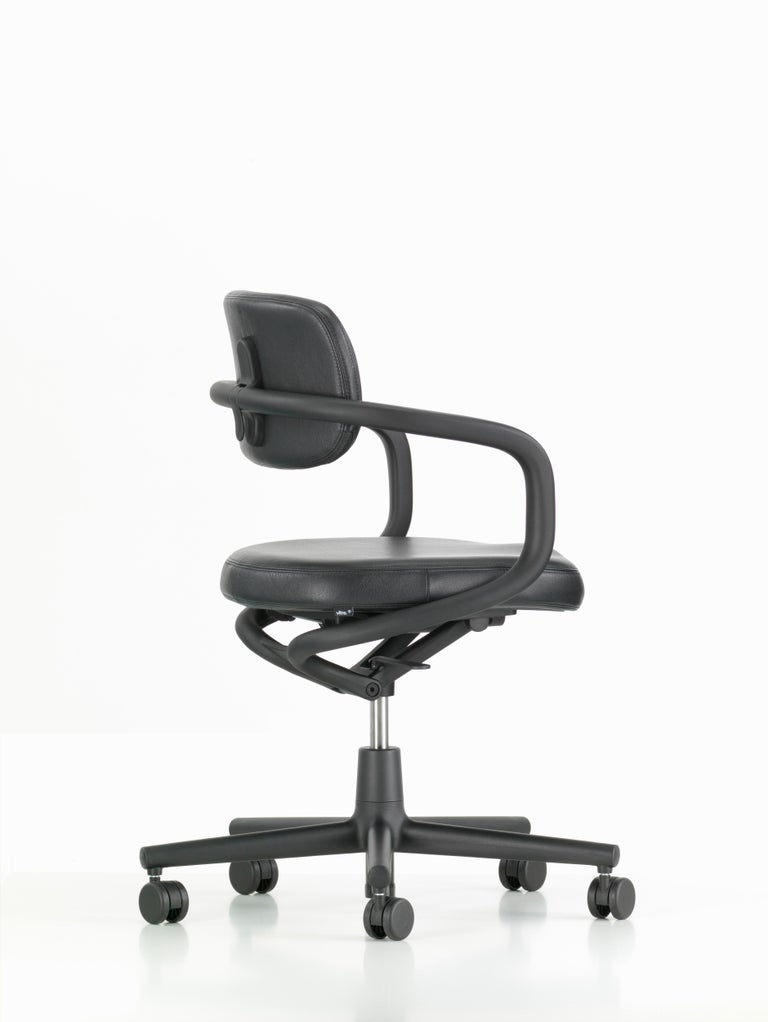 Modern Vitra Allstar Chair in Nero Leather by Konstantin Grcic For Sale