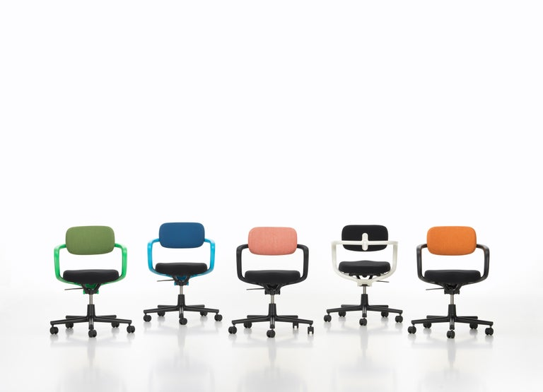 Contemporary Vitra Allstar Chair in Nero Leather by Konstantin Grcic For Sale