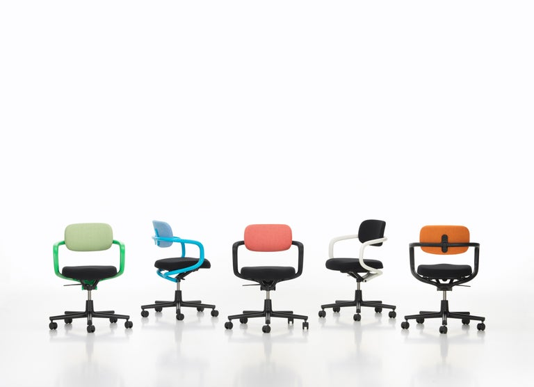 Vitra Allstar Chair in Nero Leather by Konstantin Grcic For Sale 1