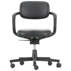 Vitra Allstar Chair in Nero Leather by Konstantin Grcic