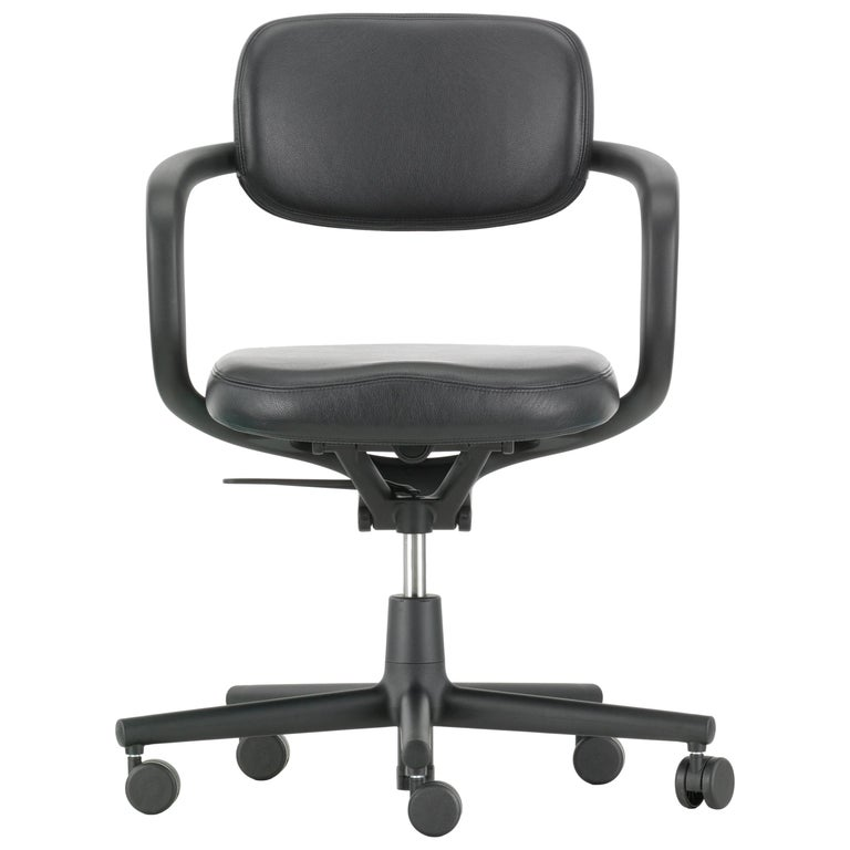 Vitra Allstar Chair in Nero Leather by Konstantin Grcic For Sale