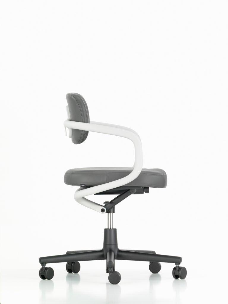 Vitra Allstar Chair In Dim Grey Leather