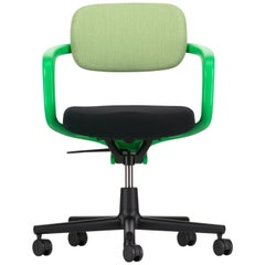 Vitra Allstar Chair in Grass Green & Ivory and Nero Hopsak by Konstantin Grcic