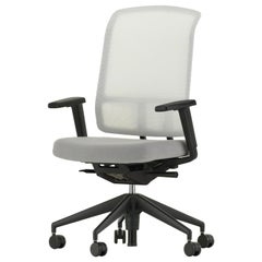 Vitra AM Chair in White and Cream by Alberto Meda