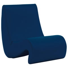 Vitra Amoebe Chair in Dark Blue by Verner Panton