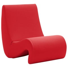 Vitra Amoebe Chair in Red by Verner Panton