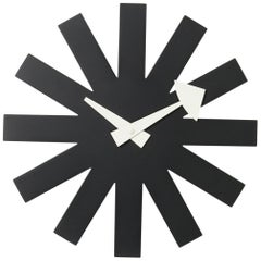 Vitra Asterisk Wall Clock in Black by George Nelson