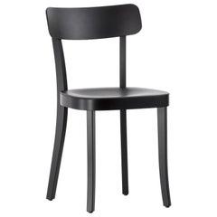 Vitra Basel Chair in Basic Dark with Black Beech Base by Jasper Morrison