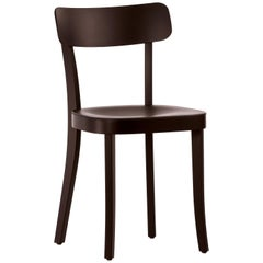 Vitra Basel Chair in Chocolate with Black Beech Base by Jasper Morrison