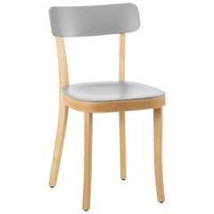 Vitra Basel Chair in Light Grey with Natural Beech Base by Jasper Morrison