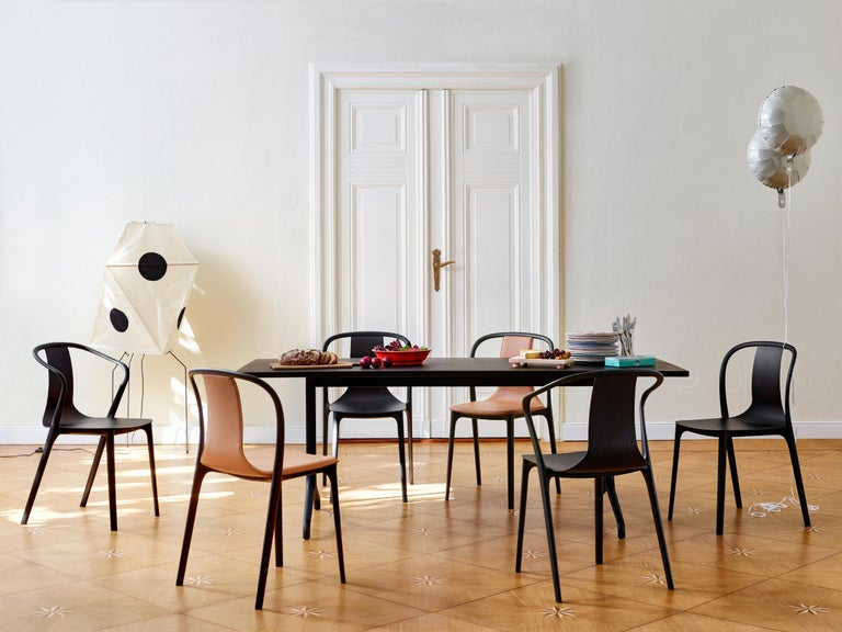 Contemporary Vitra Belleville Armchair in Black Leather by Ronan & Erwan Bouroullec For Sale