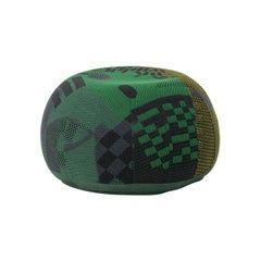 Vitra Bovist Pouf in Dark Green Shades by Hella Jongerius