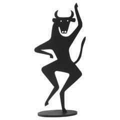 Vitra Bull Silhouette in Black by Alexander Girard
