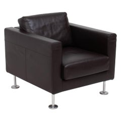 Vitra by Jasper Morrison Park Brown Leather Armchairs
