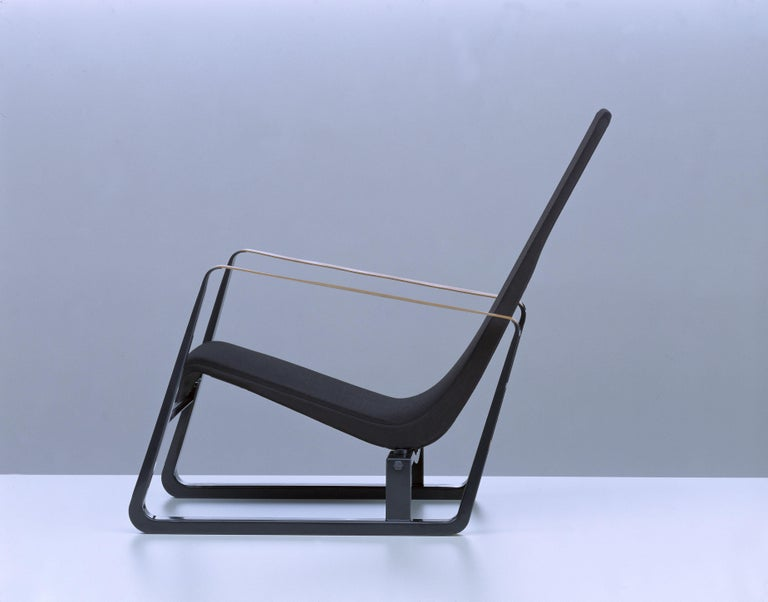 Vitra Cité Armchair in Black Upholstery by Jean Prouvé For Sale 2