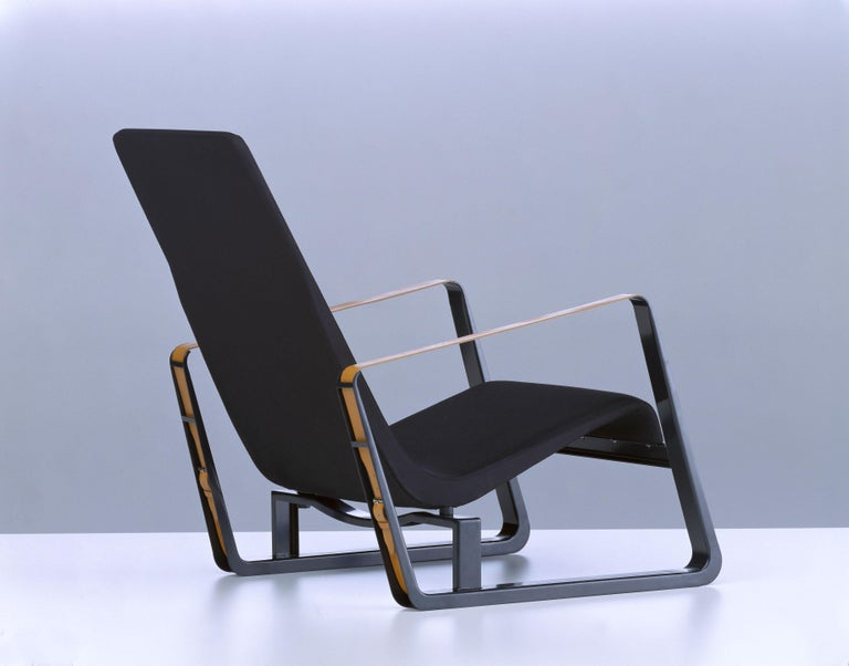 Vitra Cité Armchair in Black Upholstery by Jean Prouvé For Sale 3