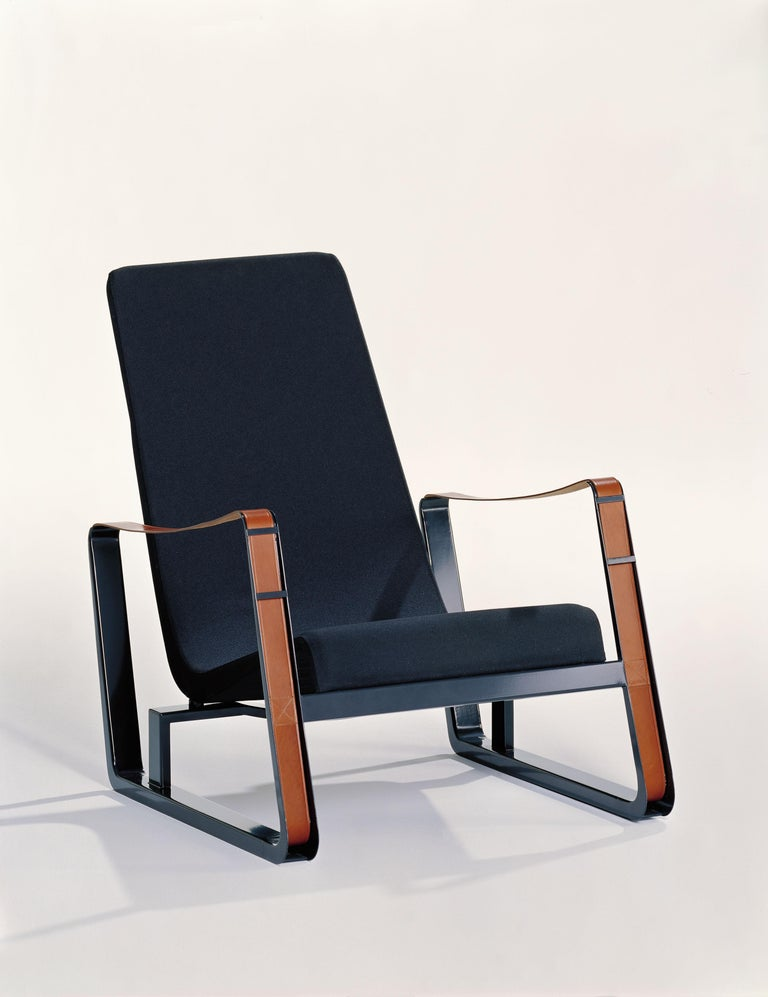 These items are currently only available in the United States.  Designed for a competition to furnish the student residence halls at the Cité Universitaire in Nancy, the Cité armchair is one of Jean Prouvé's early masterpieces. Prouvé himself used