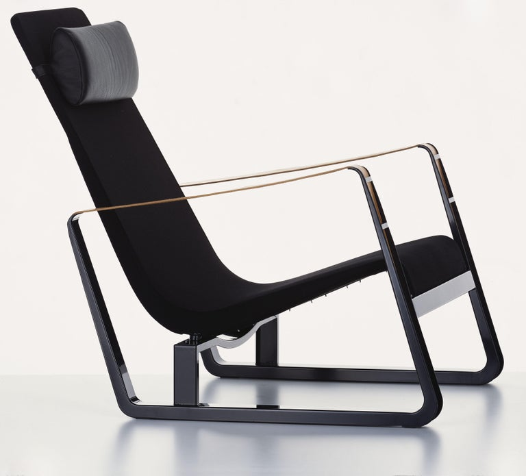 Modern Vitra Cité Armchair in Black Upholstery by Jean Prouvé For Sale